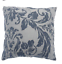 ROSEWOOD FLORAL DAMASK FLOCK  UNFILLED CUSHION COVERS TWINPACK 5 COLOURS 43x43cm