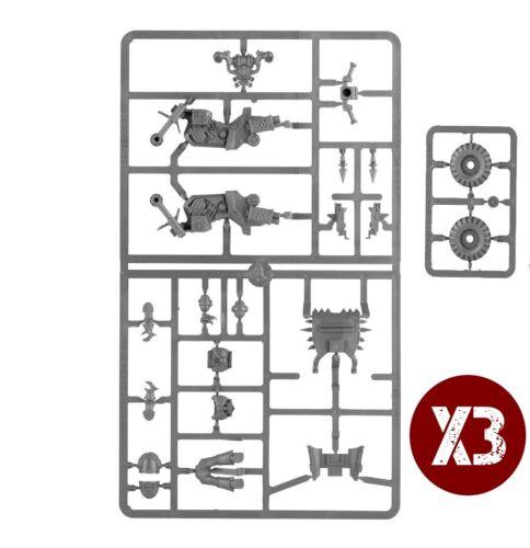 Warhammer 40K Chaos Space Marines Bikers x3