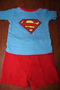 Baby Boy Kids T-shirt top+pants SUPERMAN SIZE 18 M