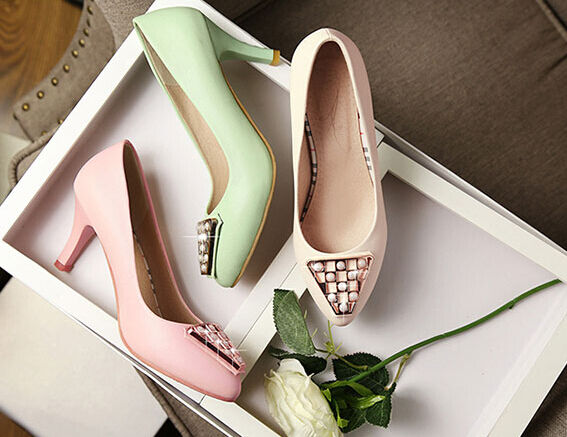 Chaussures Escarpin Femme Talon Stiletto 6 cm Dispo en 3 Couleurs 8432