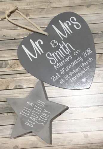 Personalised Wedding// Anniversary// Engagement Handmade Plaque .Any Name And Text