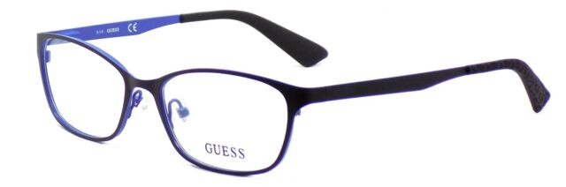 GUESS Gu2563 005 52/16 Black Blue Authentic Women DESIGNER ...