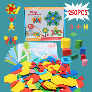 250-Pcs-Learning-Wooden-Pattern-Puzzle-Educational-Blocks-Toy-Play-Toddler-Gifts