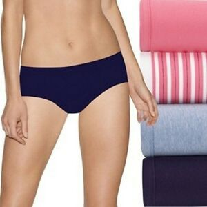 7dd140b28 Image is loading Hanes-Ultimate-4-pack-Cotton-Stretch-Hipsters-Panties-
