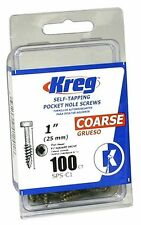 100-Count 1-Inch Kreg SPS-C1-100 Pocket Screws Pan-Head 7 Coarse