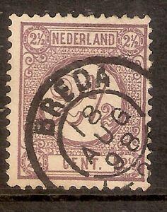 Nederland-Kleinrondstempel-op-NVPH-nr-33