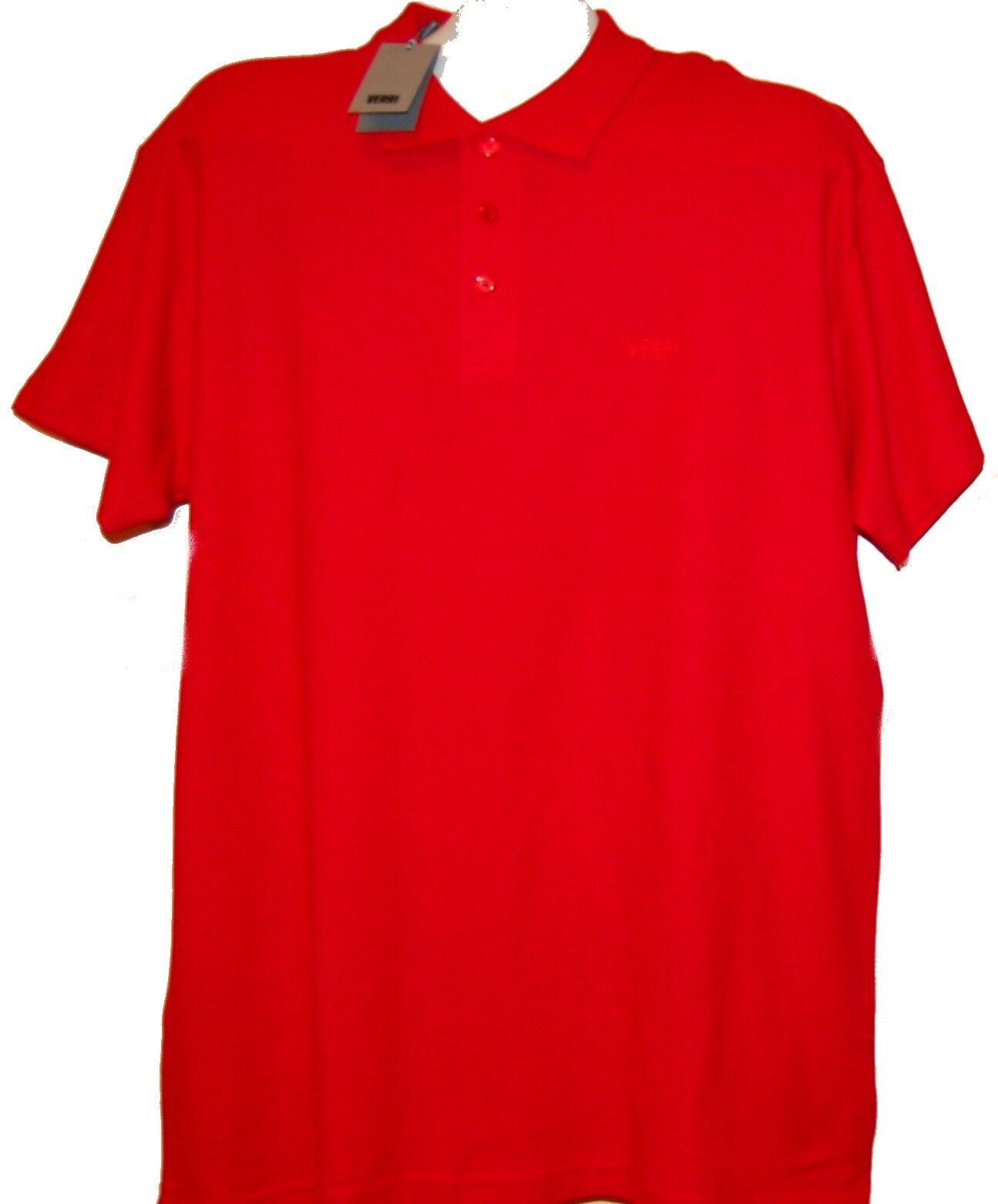 Verri Red  Men's Cotton Polo T-Shirt Size 2XL NEW