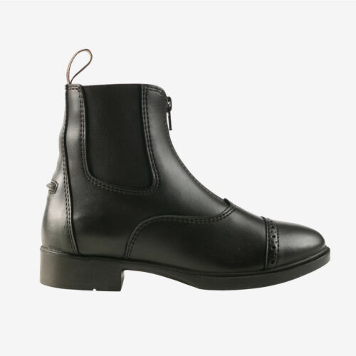Horze Wexford Children/'s Front Zip Synthetic Leather Paddock Riding Boots