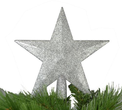 Arbre de noël étoile sapin de Noël étoile Arbre de Noël Pointe Or Argent Brillant Étoile