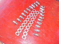 20 Keystone Uni-lug Mag Wheel 3/4 Shank Lug Nuts & Centered Washers,7/16 Rat Rod