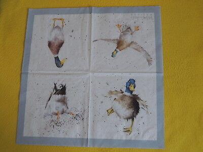 4 Motive 4 Servietten Eulen OWLS Serviettentechnik NEU Wrendale WHAT A HOOT