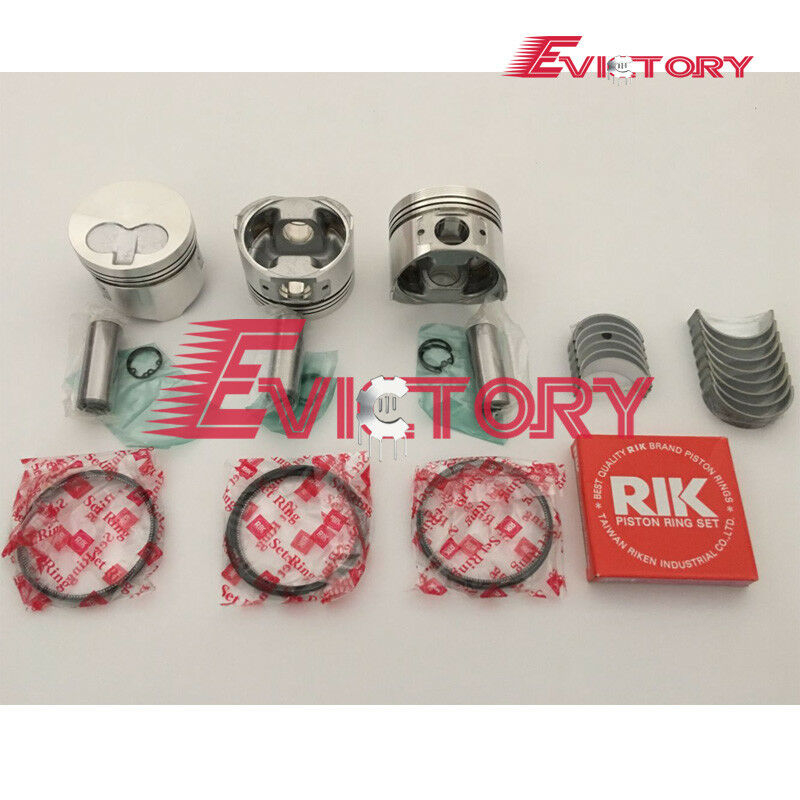 For yanmar 3D74E 3TNE74 engine overhaul rebuild kit piston +