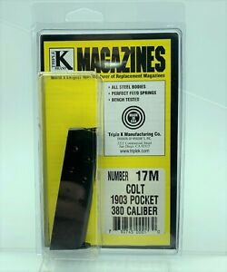 Colt-Pocket-M1903-1926-380-ACP-Magazine-7-Round-RD-Mag-Blued-Steel-Triple-K-17M