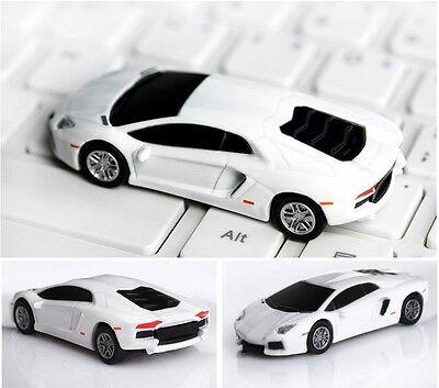 Cool !White Car Model USB 2.0 Full Memory Stick Flash pen Drive 4GB-32GB