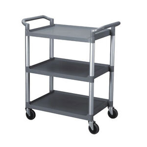 Restaurant Food Service Rolling Utility Bus Cart On Wheels