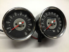 TRIUMPH SPEEDOMETER AND TACHOMETER GREY FACE 650 68-70  SMITHS REPLICA