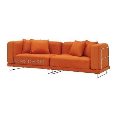 Everod Orange NEW IKEA TYLOSAND Footstool Ottoman Cover Slipcover