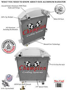 """16/"""" Fan for 1917-1927 Ford T-Bucket Chevy Configuration 3 Row Jamn Radiator"""