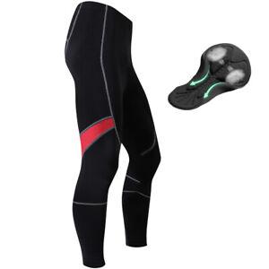 Calzas Pantalones Largos De Lana De Ciclismo Para Hombre Acolchado Cojin Deportes Pantalones De Andar En Bicicleta Ebay