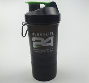 Black Color 400ml 14oz Herbalife Water Bottle Cup Sports Blender Shake Drink
