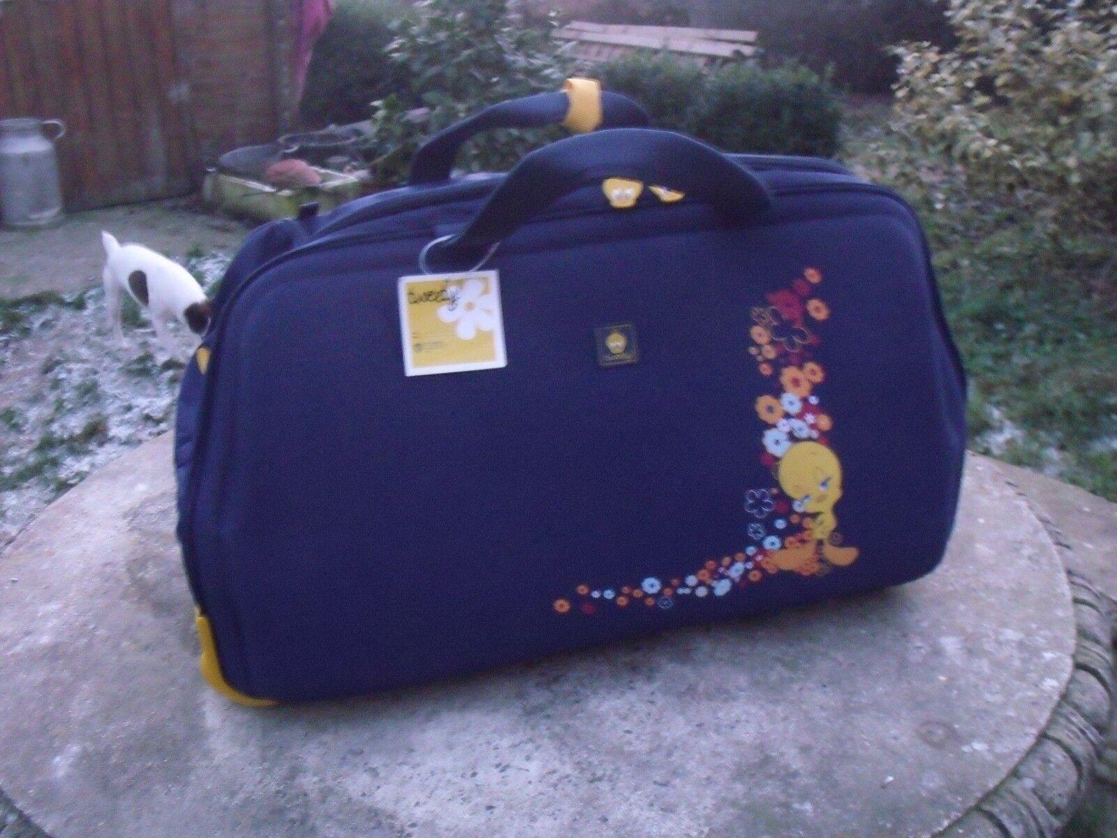 Sac de voyage valise Titi TWEETY NEUVE bleu Marine Garçon Mixte (grand) 1 sac
