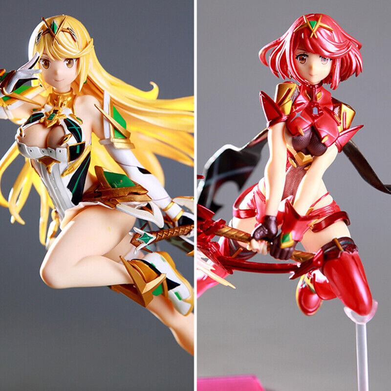 Xenoblade Chronicles 2 azione cifra Mythra Pyra PVC Anime 27cm modellolo In scatola nuovo