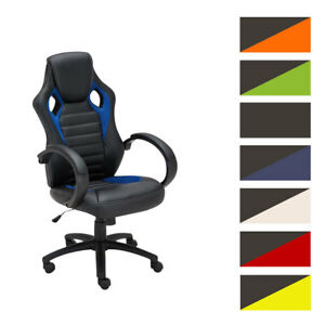 Fauteuil Bureau Racing Gamer SPEED Similicuir Hauteur Reglable