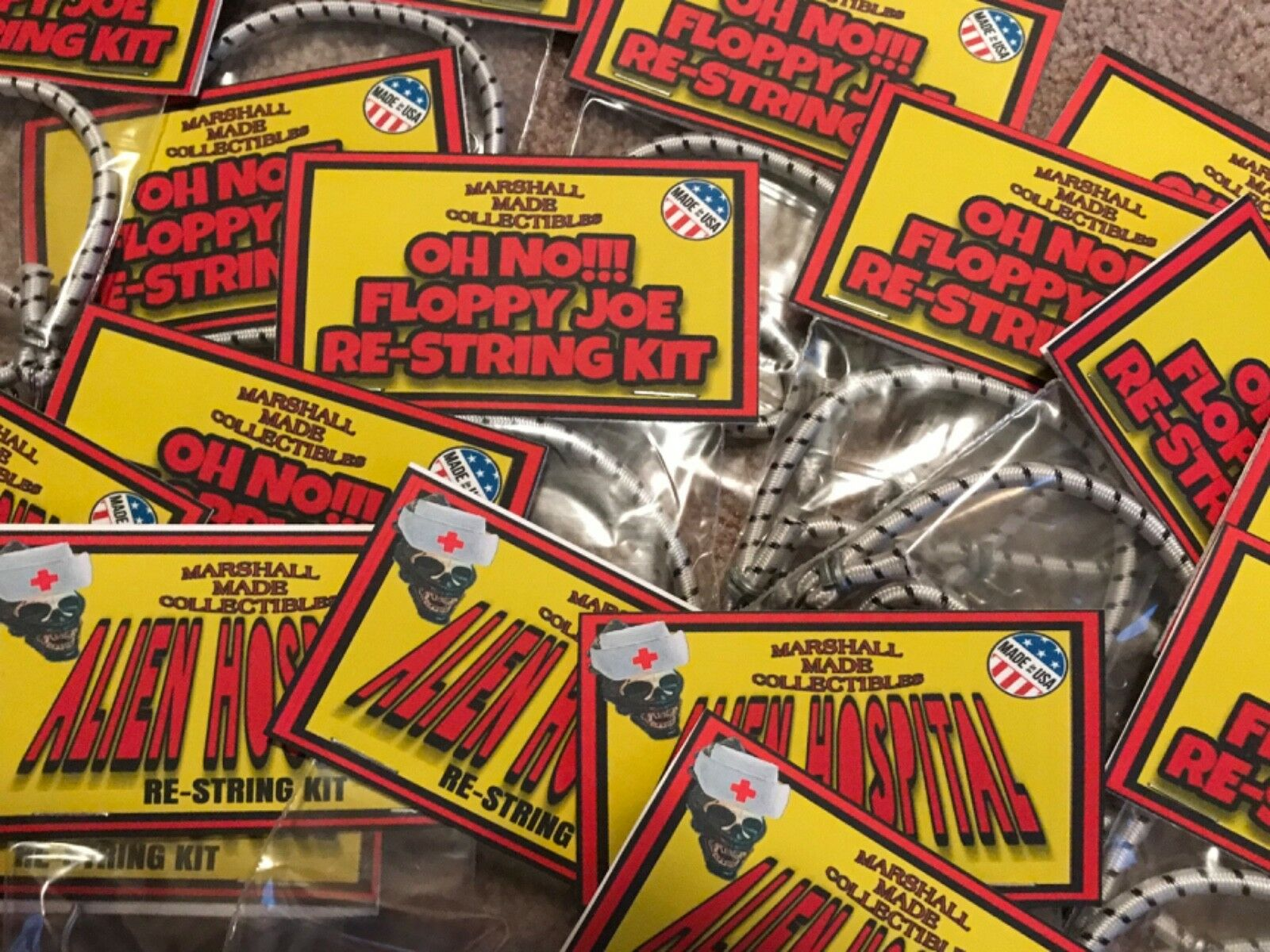 (10 GROUP LOT) Oh Oh Oh No    Floppy Joe Re-String Kits GI JOE ACTION MAN REAL HEROES ddc326