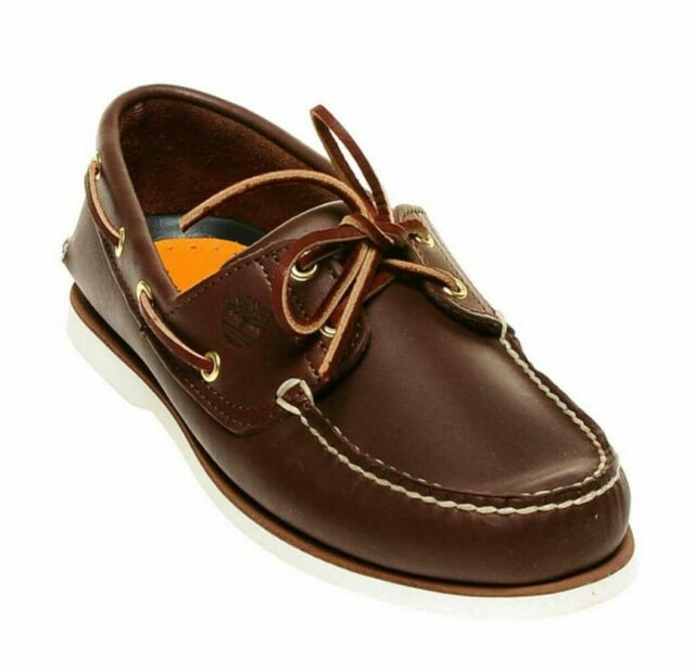Allí oler Horizontal  Timberland 74035 Classic 2 Eye Men's Brown Leather Boat Shoes 9 for sale  online | eBay