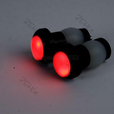Pair Bicycle Bike LED Handlebar Turn Signal Blinker Indicator Lights Black