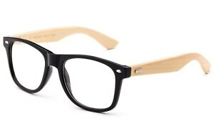 Real-Bamboo-Temple-Classic-BLACK-Frame-Bamboo-Reading-Glasses-Vintage-Bamboo-Arm