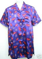 Bright Red Hat Society Summer S/s Satin-like Nightgown Wms Sz Sm Disc