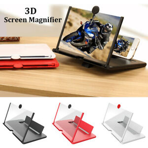 """12"""" Pull-out Screen Magnifier Mobile Phone 3D HD Video Amplifier Stand Bracket"""
