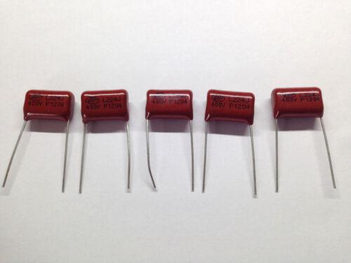 5 x condensadores 0.22uF 220nF 400V capacitors