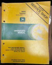 John Deere 8850 Tractor Operator Manual Om Rw22395 K5 S 1