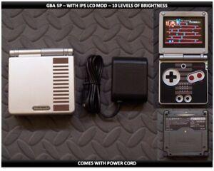 Nintendo Game Boy Advance GBA SP IPS MOD System 10 Level Brightness - NES LE
