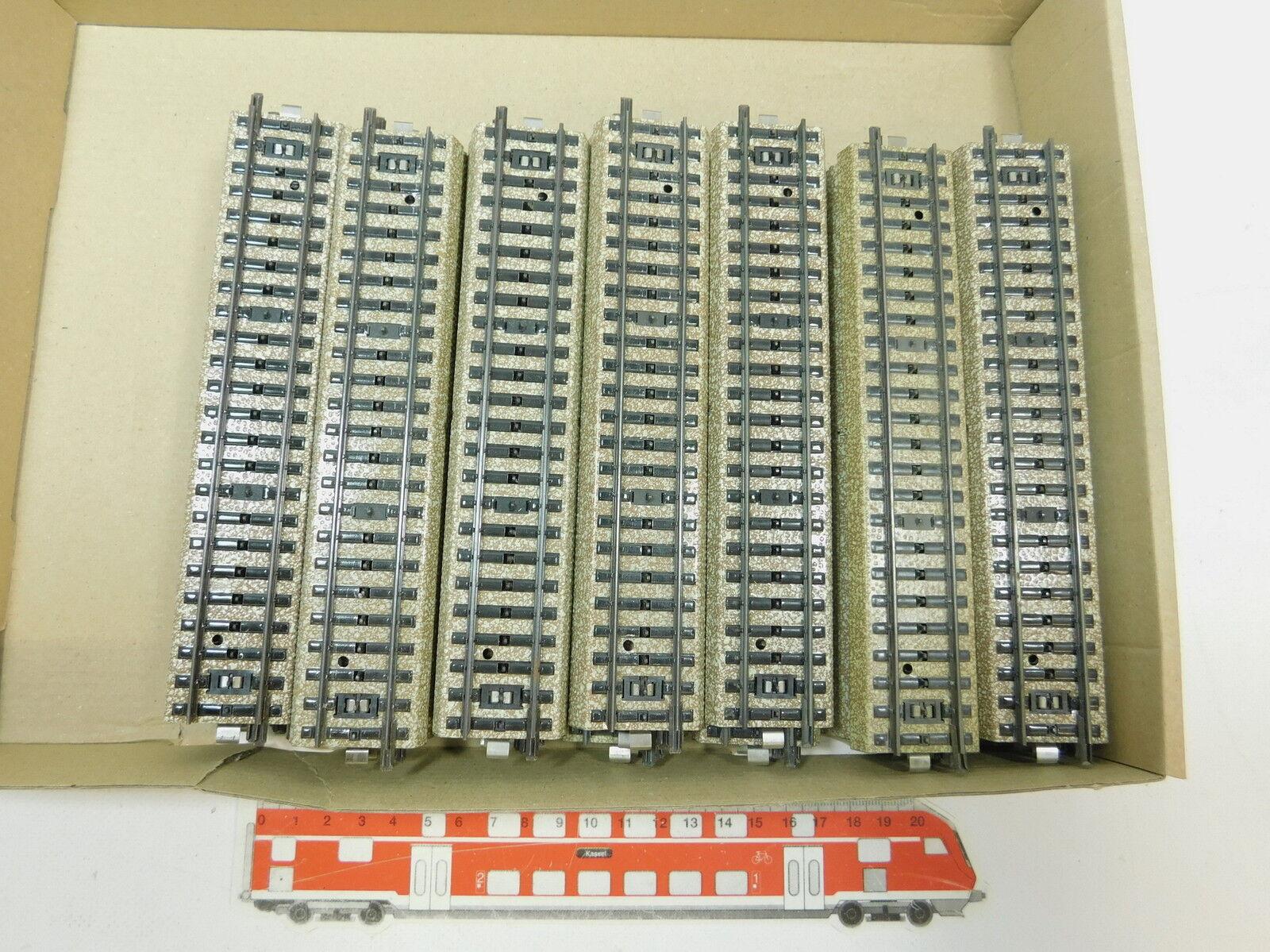 Az885-2 x MÄRKLIN H0 AC 5106 Vía   piezas de vía ( M PISTA ) recto, MUY BUEN