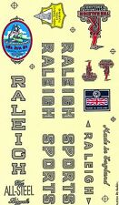 DECAL BICYCLE VINTAGE BIKE PART RALEIGH STICKER CYCLING SPORT GOODS ENGLAND RARE