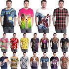 Graphic 3D Print Unisex Fashion T Shirts Casual Short Sleeve Tops Tee Streetwear