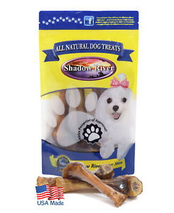 Shadow River Lamb Shank Small Dog Bones - 8 Pack Petite Size Natural Chew Treats