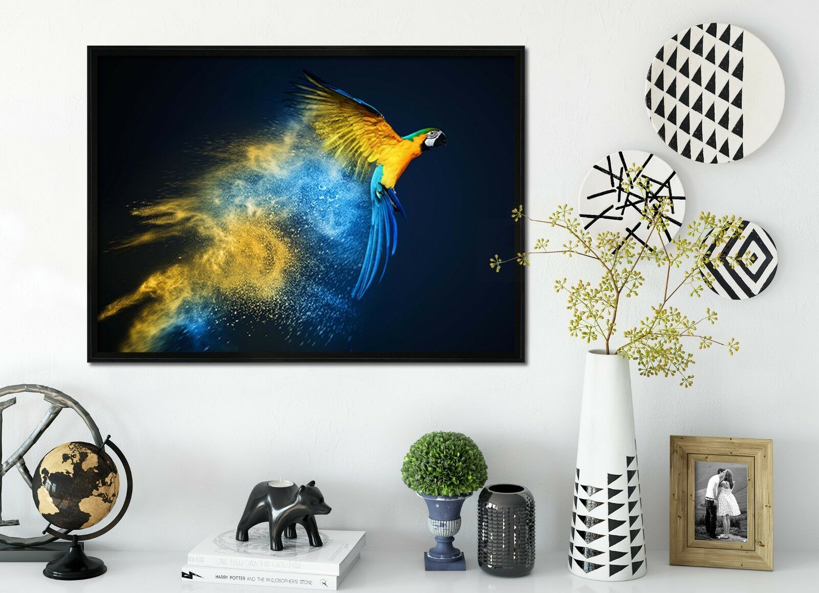 3D Papagei Fliegen 48 Gerahmt Poster Daheim Dekor Drucken Malerei Kunst AJ