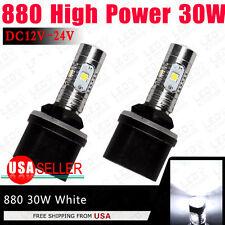 2x High Power 30W White 880 LED Fog Driving DRL Light 893 899 DC12V-24V US