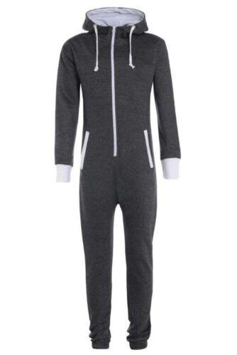New Unisex Kids Boys Girls Aztec Print Zip Up Hooded Jumpsuit Onepiece 7-14 Yrs