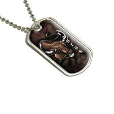 Taurus Bull Zodiac - Astrological Sign Astrology - Military Dog Tag Keychain