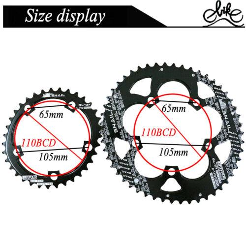 110BCD 50//35T Double Oval Chainwheel Road Folding Bike Sprockets Fit SHIMANO//FSA