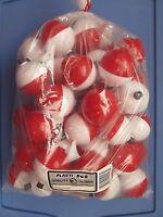 Plastilite Corporation 2 Bobbers Red & White Spring Bulk 50 Bobbers