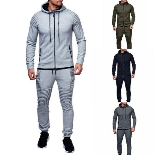 Herren Trainingsanzug Herbst Suit Set Fitnessmode Zweiteiler Hose Kapuzepullover