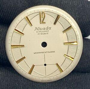 Nivada-28-4-mm-Diplomatique-Sphere-Watch-Vintage-Cadran-Militaire-Wehrmachtswerk