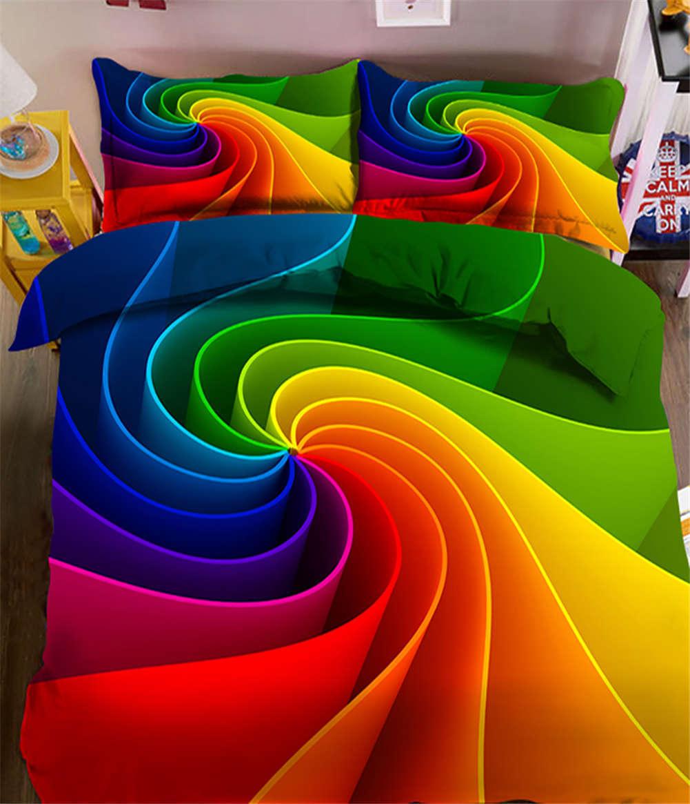 Chromatic Vortex 3D Printing Duvet Quilt Doona Covers Pillow Case Bedding Sets