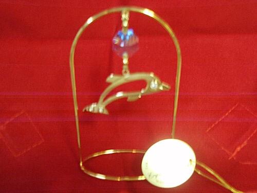 Crystal Delight Dolphin charm 24k gold plated blue Austrian crystal NWT FS